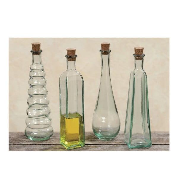 Zestaw 4 butelek dekoracyjnych Bottles
