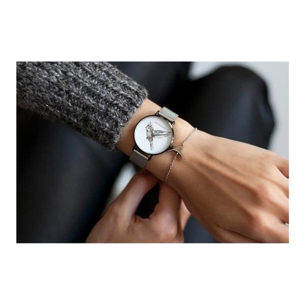 Zegarek damski z bransoletką ze stali nierdzewnej w srebrnym kolorze Emily Westwood Bird
