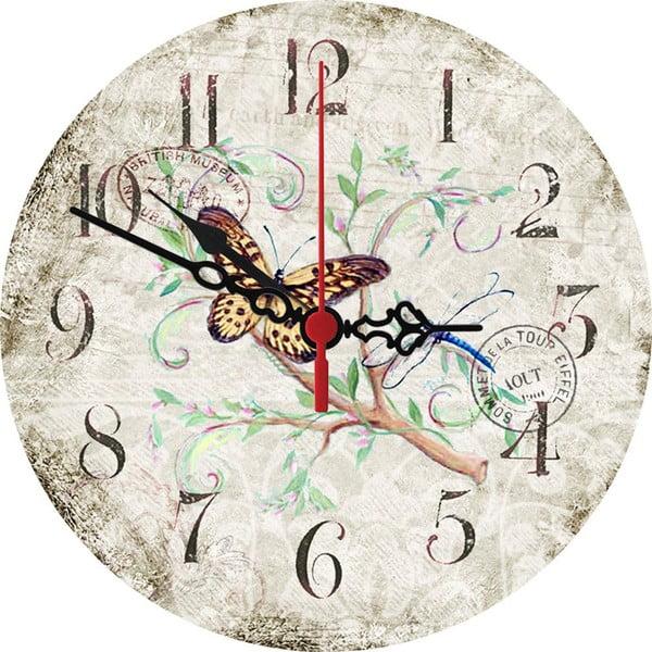 Zegar ścienny Butterfly, 30 cm