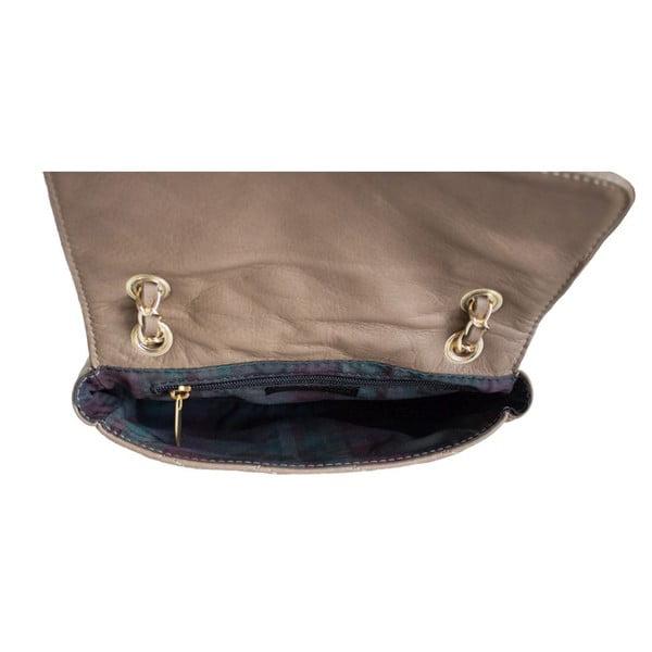 Skórzana torebka Valentina Taupe