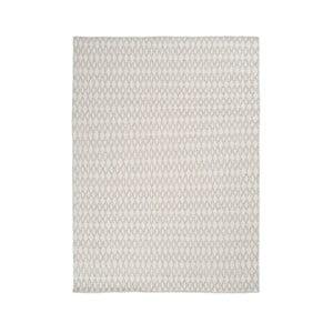 Wełniany dywan Elliot White, 170x240 cm