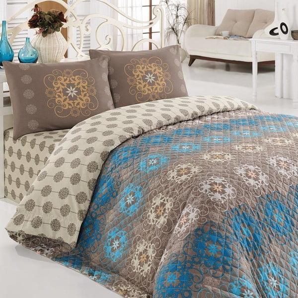 Zestaw narzuty i poszewki na poduszkę Ametist, 200x220 cm