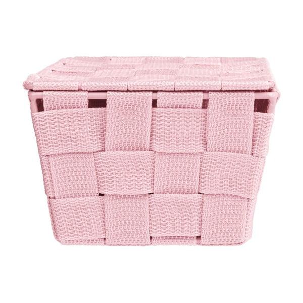 Różowy koszyk zamykany Wenko Adria