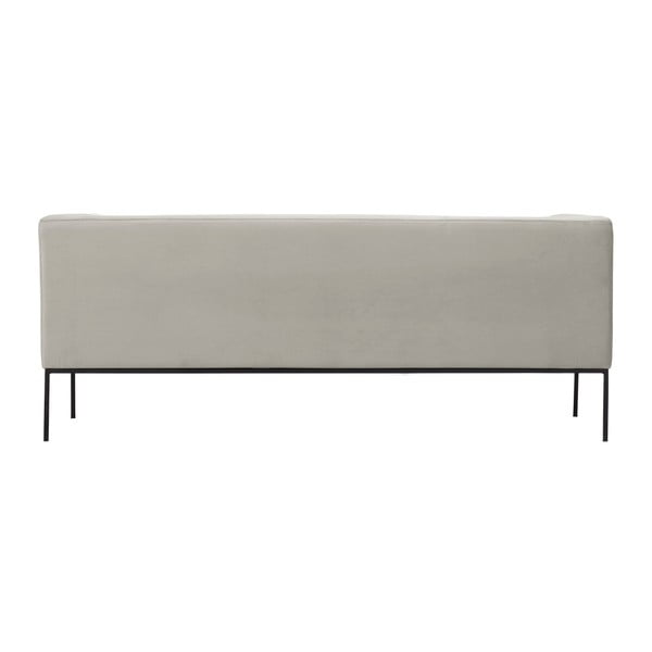 Beżowa aksamitna 3-osobowa sofa Windsor & Co Sofas Neptune