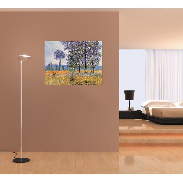 Obraz Claude Monet - Felder im Frühling, 80x60 cm