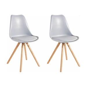 Zestaw 2 szarych krzeseł Støraa Brenda