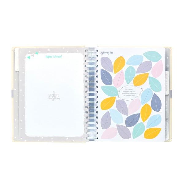 Beżowy pamiętnik małego dziecka Busy B