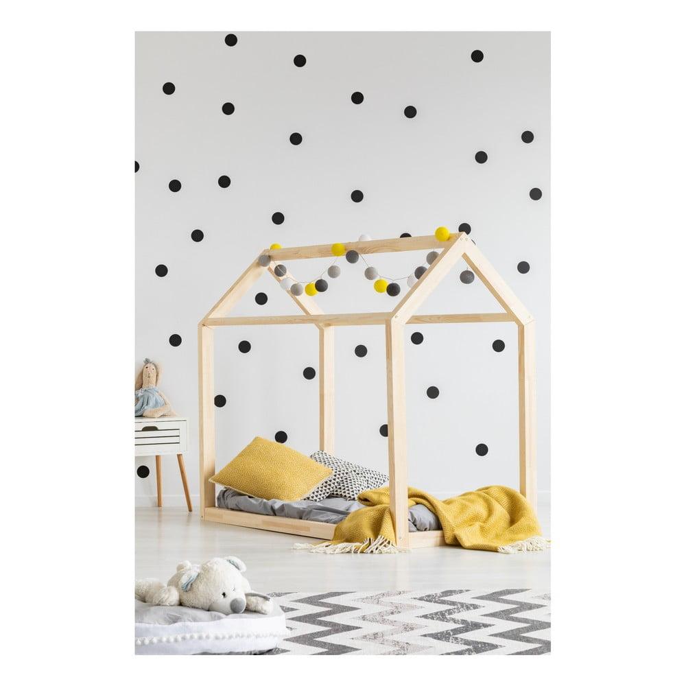 Łóżko w kształcie domku z drewna sosnowego Adeko Mila MN, 60x120 cm