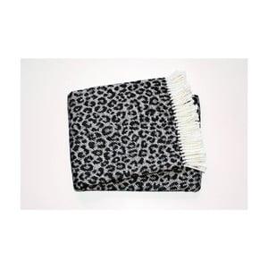 Koc Leopard Black, 140x180 cm