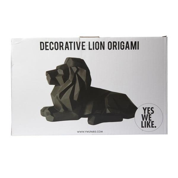Czarna figurka dekoracyjna YWL Lion