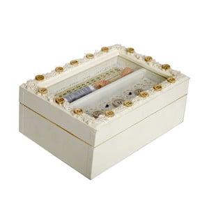 Drewniany pojemnik na przybory do szycia Antic Line Small Buttons