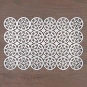 Mata stołowa w barwie srebra InArt XMas Snowflake