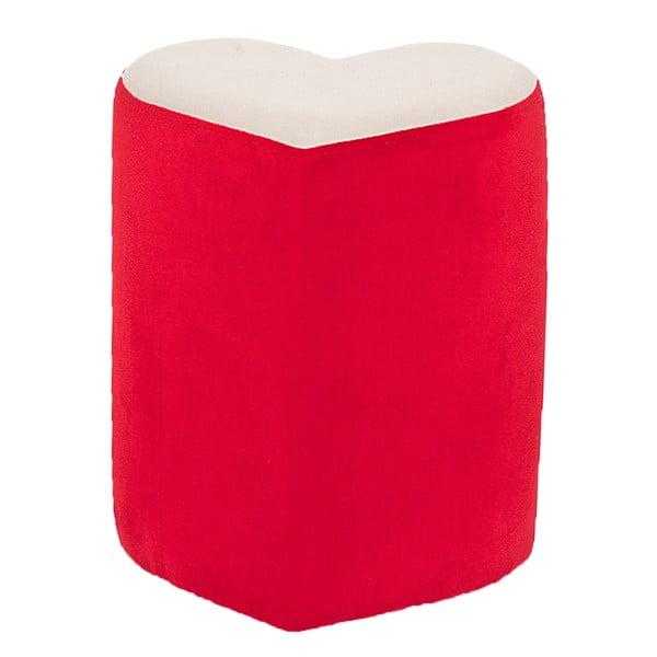 Czerwony puf w kształcie serca Herbie