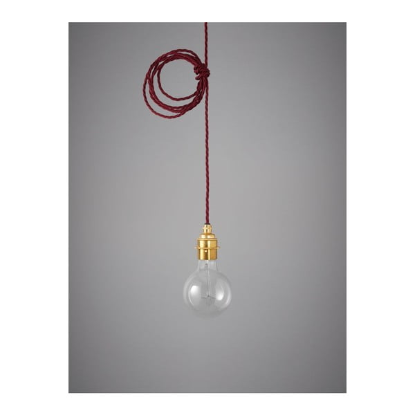 Kabel Brass Burgundy Red