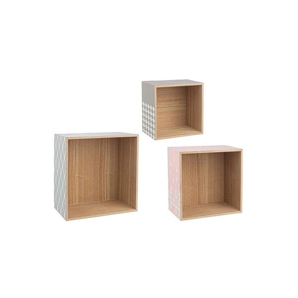 Zestaw 3 półek ściennych Cube