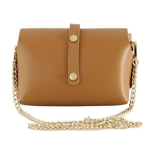 Skórzana torebka przez ramię Slaygie, brązowa