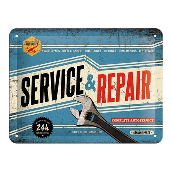 Zestaw blaszana tablica i pojemnik Best Garage