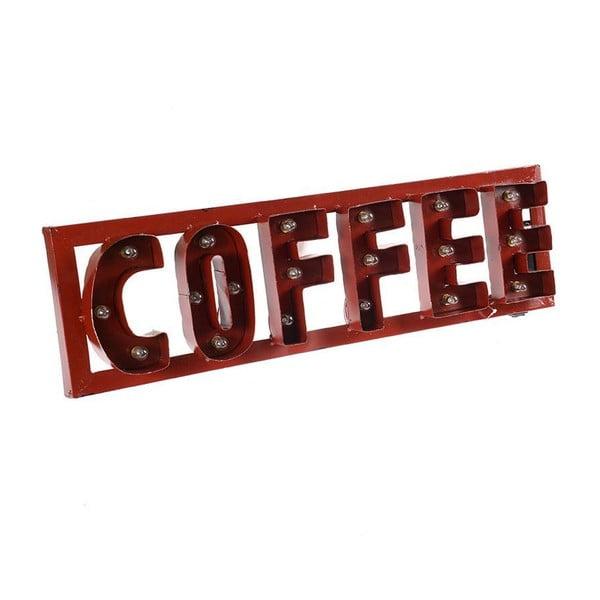 Dekoracja naścienna LED Red Coffee
