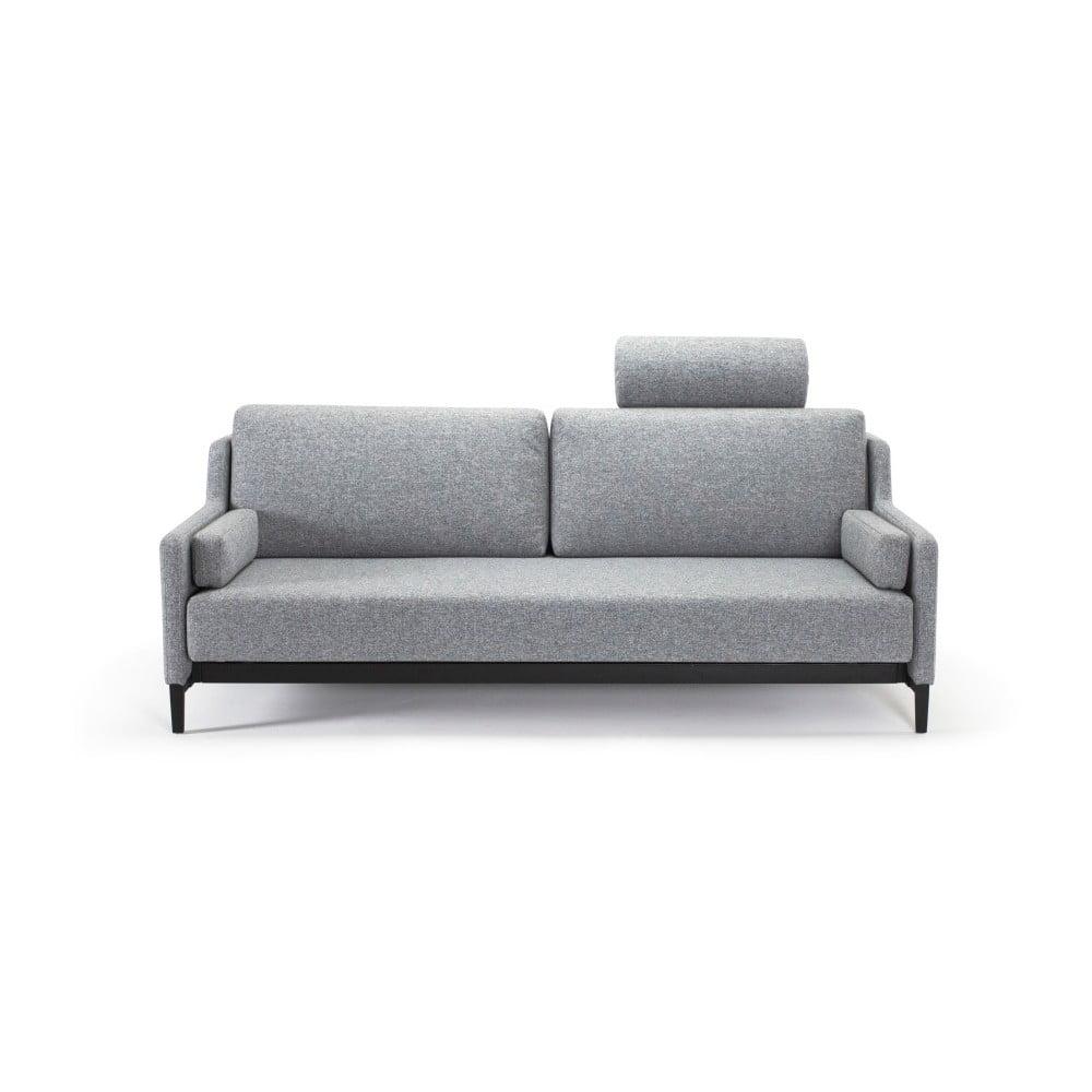 Szara rozkładana sofa Innovation Hermod Twist Granite