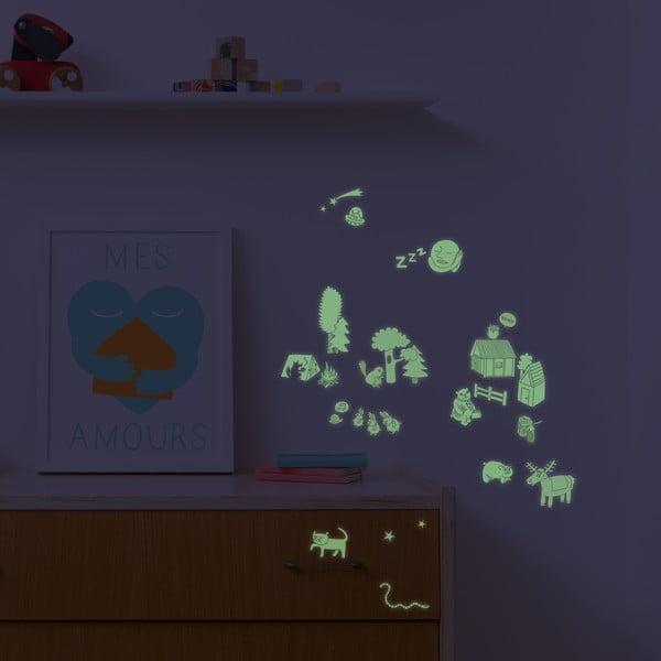 Zestaw naklejek świecących w ciemności OMY Nature, 100 szt.