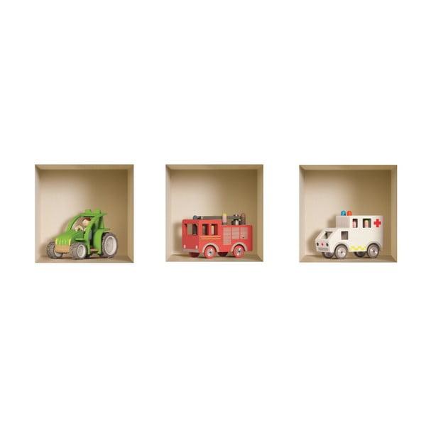 Naklejki na ścianę 3D Children's Toy, 3 szt.