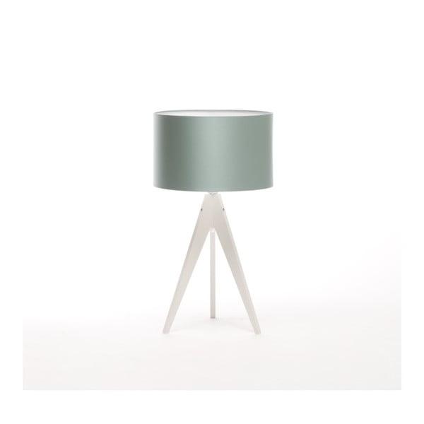 Stalowo-niebieska lampa stołowa Artist, biała lakierowana brzoza, Ø 33 cm