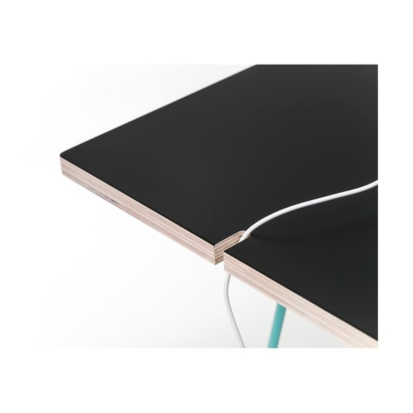 Blat do stołu Studio 130x60 cm, czarny