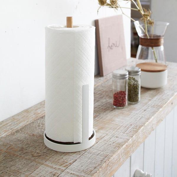 Biały stojak na ręczniki papierowe Yamazaki Tosca