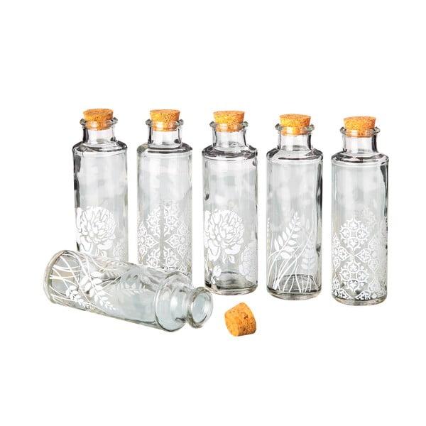Zestaw 6 butelek szklanych Corcho, 175 ml
