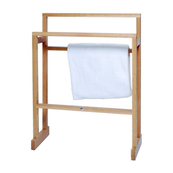 Stojak na ręczniki z drewna dębowego Wireworks Mezza