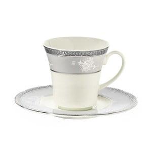 Zestaw 6 filiżanek porcelanowych ze spodkami Kutahya North, 50 ml