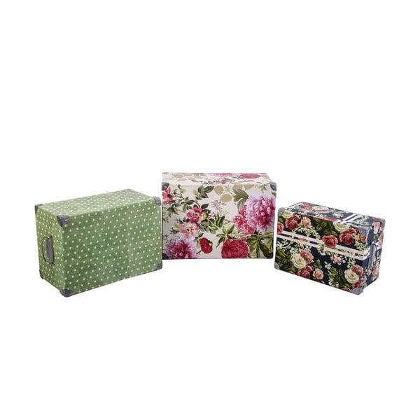 Zestaw 3 pudełek Flowers and Dots