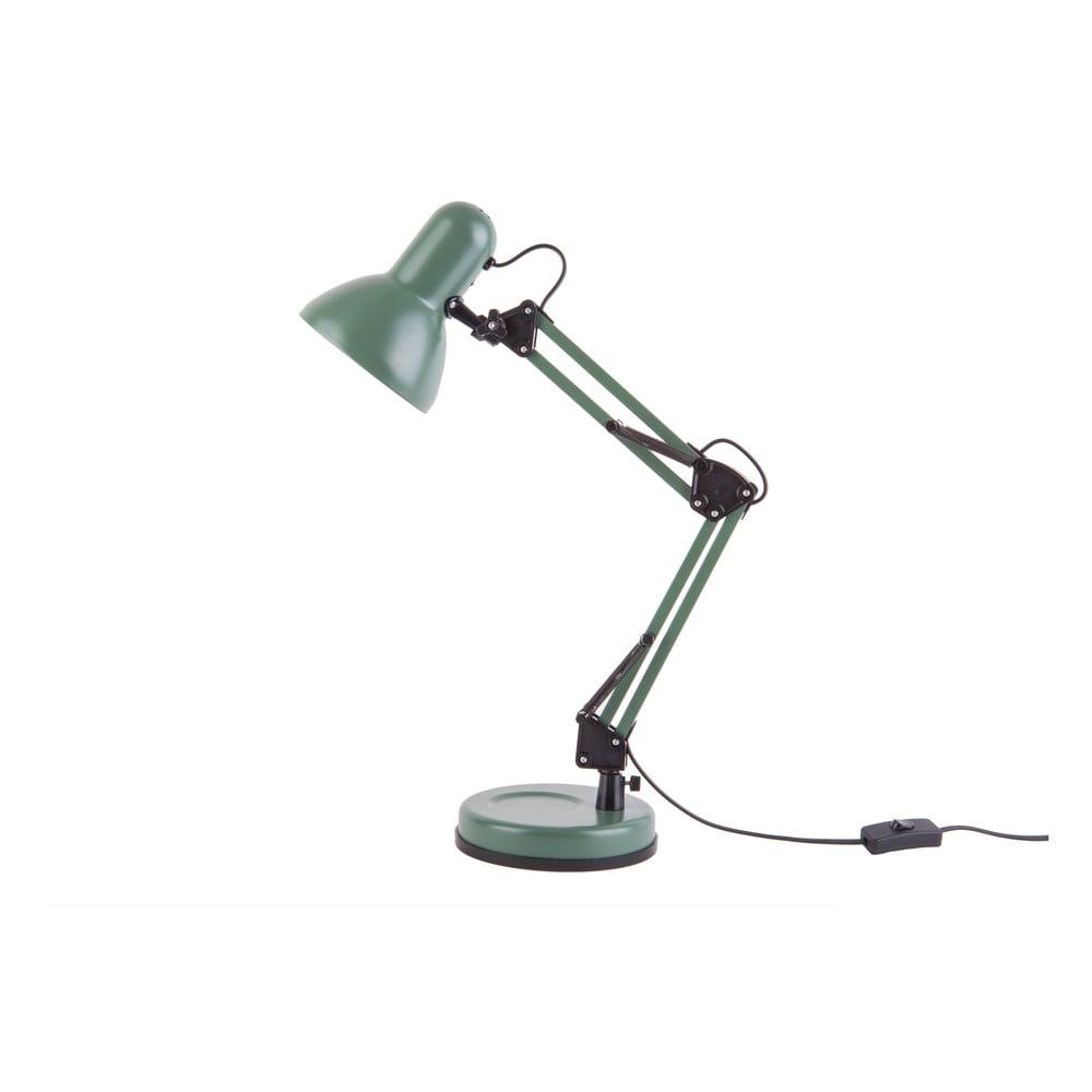 Zielona lampa stołowa z czarnymi detalami Leitmotiv Hobby,ø12,5cm