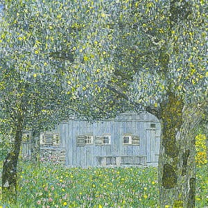 Reprodukcja obrazu Gustava Klimta - Upper Austrian Farmhouse, 70x70 cm