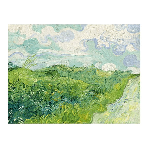 Obraz Vincenta van Gogha - Green Wheat Fields, 40x30 cm