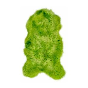 Zielona skóra owcza Swedo, 110x60cm