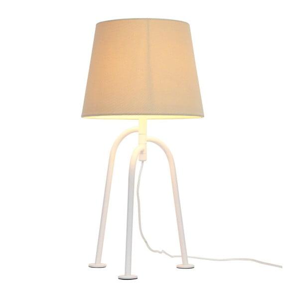 Biała lampa stołowa Garageeight Jay