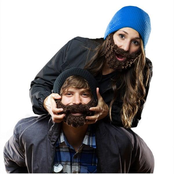 Czarna czapka Beardo z kolorową brodą