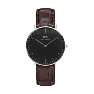 Brązowy zegarek unisex DanielWellingtonYorkSilver