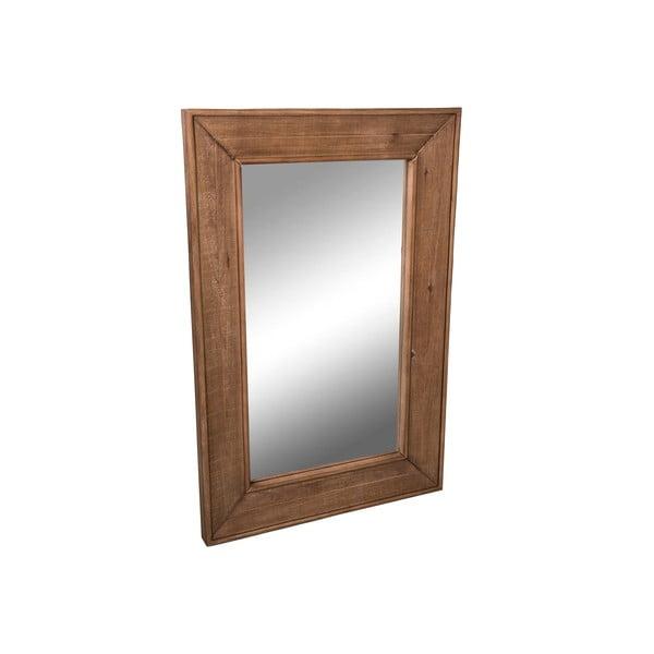 Lustro z drewnianą ramą Miroir