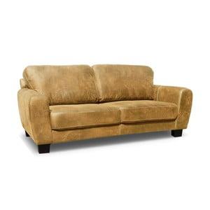 Sofa trzyosobowa Jethro, karmelowy brąz