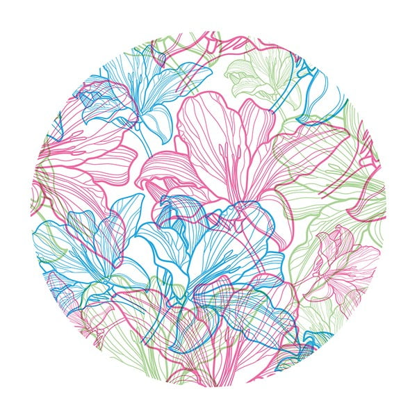 Stolik kawowy Flowers In White