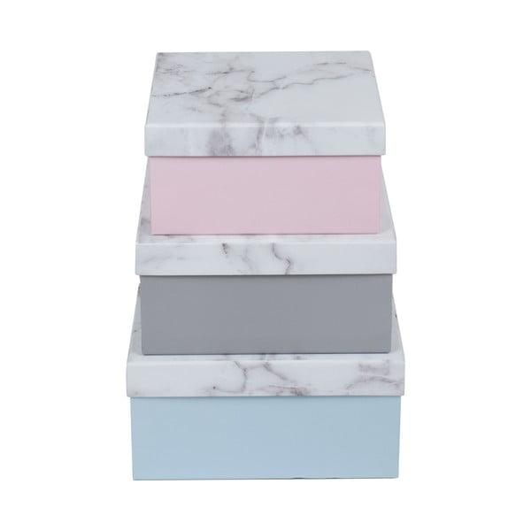 Zestaw 3 pudełek Marble