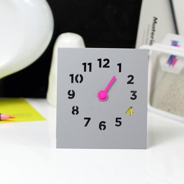 Zegar Desk Clock, szary