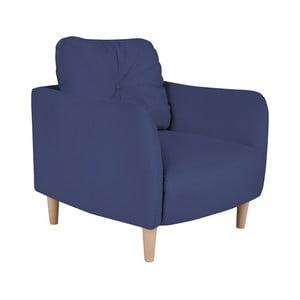 Niebieski fotel Micadoni Home Belano