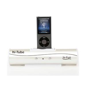 Przenośny głośnik Hi-Tube, srebrny