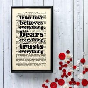 Plakat w   drewnianej ramie Dickens True Love