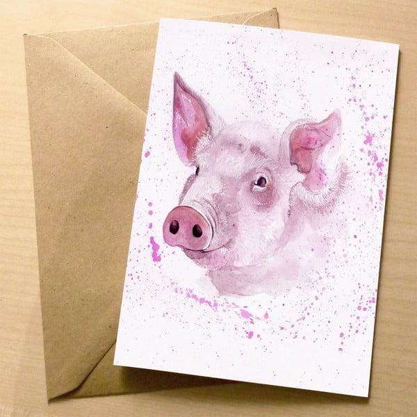 Kartka okolicznościowa Wraptious Splatter Pig