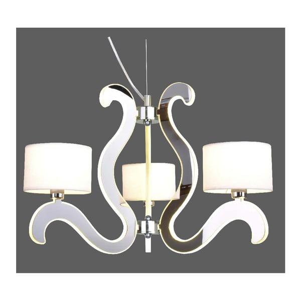 Lampa sufitowa Ambrosia, srebrna