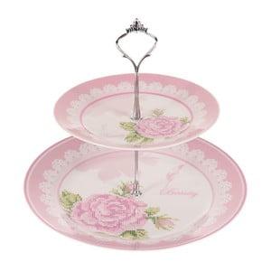 Dwupoziomowa patera Pink Roses